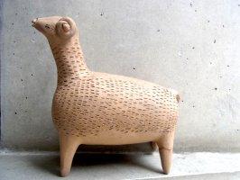 オアハカ アツォンパ 陶器 チア人形  [ナチュラル 羊 25cm]