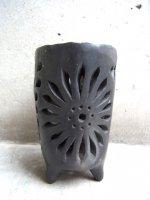 オアハカ 黒陶 バロネグロ  [燭台 キャンドルホルダー] used