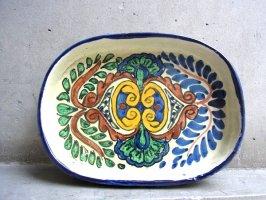 プエブラ 陶器 タラベラ焼き  [楕円皿 オーバルプレート 20cm]