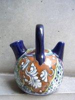プエブラ 陶器 タラベラ焼き  [ボティホ 飲用壺 ]