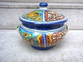 プエブラ 陶器 タラベラ焼き  [ジャーポット キャセロール ]