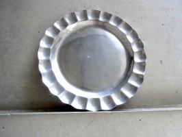 グアナファト ピューター 錫細工 [丸皿 ラウンドプレート] ビンテージ
