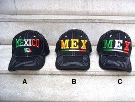 メキシコ ベースボールキャップ [ブラック Mexico]