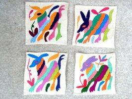 オトミ刺繍 ミニファブリック [アニマレス その4 ]  生地
