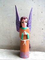 オアハカ ウッドカービング 木彫り人形  [ウニオン ヘアー天使]