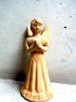 オアハカ 陶芸 土人形  [素焼きの天使 ] ビンテージ