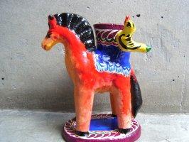 キャンドルホルダー 燭台 陶芸  [ウマ] イスカール