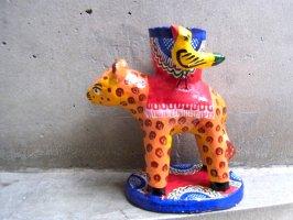 キャンドルホルダー 燭台 陶芸  [ジャガー] イスカール