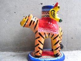 キャンドルホルダー 燭台 陶芸  [タイガー] イスカール