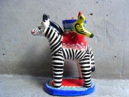 キャンドルホルダー 燭台 陶芸  [シマウマ] イスカール