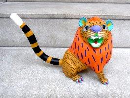 オアハカ ウッドカービング 木彫り人形 [アルマンド・ヒメネス ライオン]