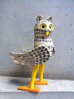 ウッドカービング 木彫り オアハカ  [フクロウ]  復刻品