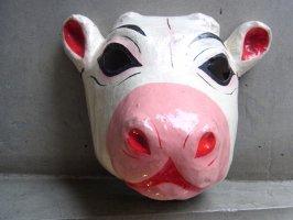 パペルマチェ 張子 仮面 [雌牛] メキシコシティ