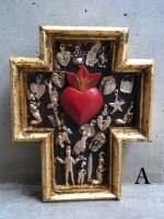 ミラグロ クロス 十字架  [アンチョ ゴールド] コラソン