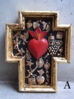 ミラグロ クロス 十字架  [アンチョ ゴールド その2] コラソン