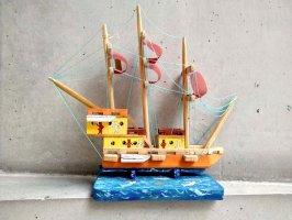 オアハカ ボノラ  [悪魔とガイコツの帆船] 郷土玩具