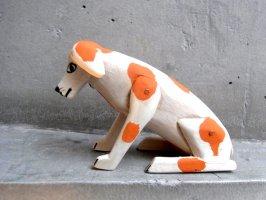 オアハカ ウッドカービング 木彫り サンチアゴ  [カリスト 佇むイヌ]