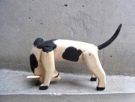 オアハカ ウッドカービング 木彫り サンチアゴ  [カリストうつむき牛