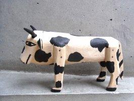 オアハカ ウッドカービング 木彫り サンチアゴ[マルティン ウシその2] Mサイズ