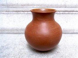 オアハカ バロ・ロホ 壺 土器 [オジャ 21cm]