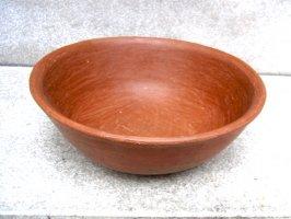 オアハカ バロ・ロホ 深皿 土器 [カスエラ 22cm]