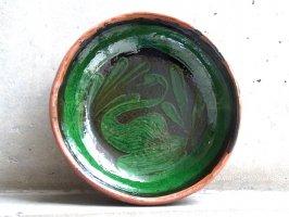 パタンバン 緑釉 陶器  [ボウル皿 水鳥]