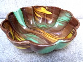 オアハカ 陶器 ドリップウェア [ボウル ブラウン] ビンテージ
