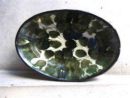 オアハカ 陶器 ドリップウェア [オーバルボウル リーフグリーン] ビンテージ