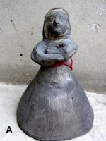 オアハカ 黒陶 バロネグロ  [女性のベル ] ビンテージ