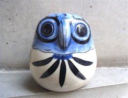 トナラ 陶芸 プリダ  [フクロウ ブルー] インテリア