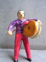 フランシスコ・フローレス  陶人形 [ブラスバンド バスドラム] ビンテージ