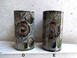 トナラ 陶器  花器 [タンブラー グレーその2]