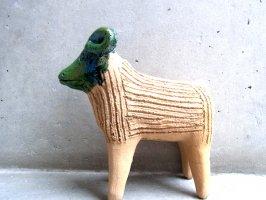 オアハカ アツォンパ 陶器 チア人形  [羊 20cm] B品