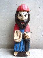 スペイン 木彫り人形  [宣教師] ビンテージ