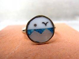 リング 指輪  [ターコイズ 螺鈿] アルパカ