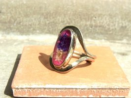 リング 指輪  [ドライフラワー ブルー&ホワイト] アルパカ