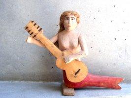 オアハカ ウッドカービング 木彫り [マヌエル・ヒメネス 人魚] ビンテージ