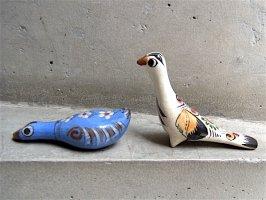 トナラ 陶芸  スモールオブジェ [水鳥&鴨] ビンテージ