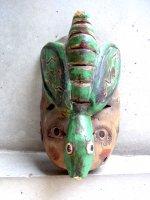 ウッドマスク 木製の仮面  [ゲレーロ  虫男]  ビンテージ