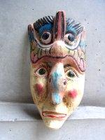 ウッドマスク 木製の仮面  [ゲレーロ 鳥男]  ビンテージ
