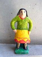 プエブラ マル・デル・アイレ 陶人形  [フローレス 家政婦] ビンテージ
