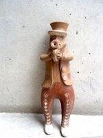 ペルー プカラ 土人形  [ホルン奏者] ビンテージ