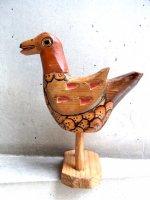 グアテマラ 木彫り人形 ウッドカービング [ナチュラル バード]