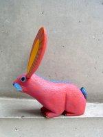 オアハカ ウッドカービング 木彫り人形 [アルマンド・ラミレス ウサギ レッド]