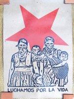 サパティスタ EZLN クラフトポスター [インディヘナの親子] インテリア