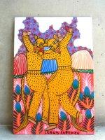 ロレンソ ファミリー メキシカンアート [トクアノのジャガーダンス] 板絵画