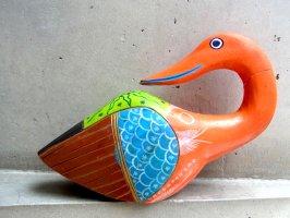 ゲレーロ ウッドオブジェ [木彫り人形 水鳥] ビンテージ