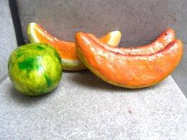 パペルマチェ 張子 オブジェ [ライム&メロン]  玩具