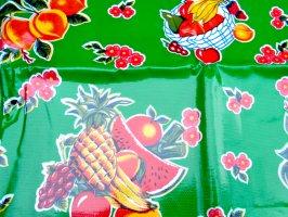 オイルクロス キッチン [グリーン フルーツ] テーブルクロス