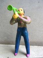 フランシスコ・フローレス  陶人形 [ブラスバンド トランペット] ビンテージ